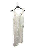 Y's(ワイズ)の古着「リネンブレンドキャミソールワンピース」|ホワイト