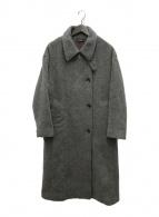 ()の古着「super100'sショートビーバーハイネックコート」 グレー