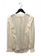 STELLA McCARTNEY(ステラマッカートニー)の古着「シルクタックブラウス」|アイボリー