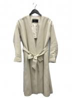 FONCE(フォンセ)の古着「ノーカラーコート」 アイボリー