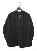 ()の古着「PEガーメントダイノーカラージャケット」|ブラック