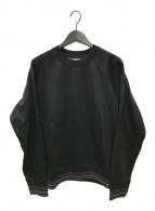()の古着「リブラインクルーネックスウェット」|ブラック