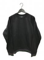 PS Paul Smith(PSポールスミス)の古着「リブラインクルーネックスウェット」|ブラック