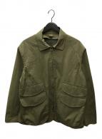 ()の古着「ジップアップミリタリージャケット」|オリーブ