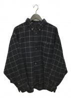()の古着「別注ウールチェックシャツ」|ネイビー