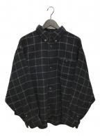 WILLY CHAVARRIA()の古着「別注ウールチェックシャツ」|ネイビー