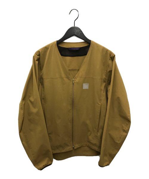 Needles sportswear(ニードルズスポーツウェア)Needles sportswear (ニードルズスポーツウェア) WARM-UP V NECK JACKET ブラウン サイズ:Mの古着・服飾アイテム