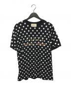 GUCCI()の古着「ポルカドットTシャツ」|ブラック