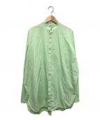 JIL SANDER(ジルサンダー)の古着「バンドカラーロングシャツ」|グリーン