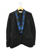 STELLA McCARTNEY(ステラマッカートニー)の古着「フラワーラペル1Bジャケット」|ブラック×ブルー