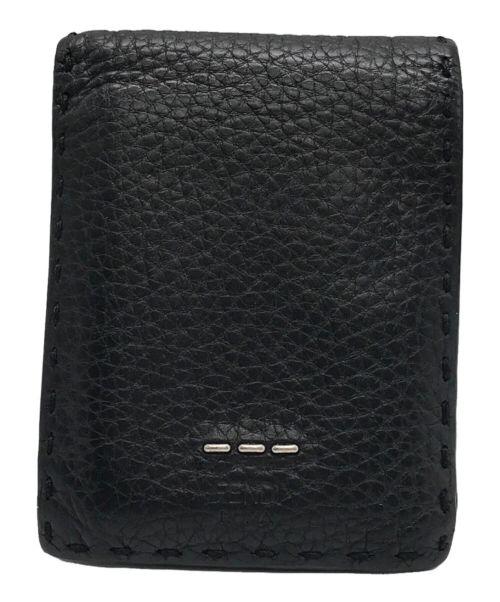 FENDI(フェンディ)FENDI (フェンディ) 2つ折り財布 ブラックの古着・服飾アイテム