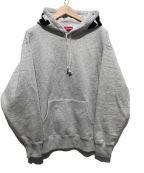 SUPREME(シュプリーム)の古着「リブ フーデッドスウェットシャツ」|グレー