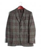 ISAIA(イザイア)の古着「ツイードシングルジャケット」 ブラウン×グリーン