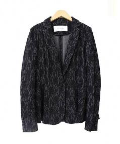 LE CIEL BLEU(ルシェルブルー)の古着「レーステーラードジャケット」 ブラック