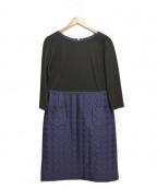49AV junko shimada(ジュンコシマダ)の古着「切替ワンピース」|ブラック×ネイビー