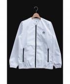 adidas×HYKE(アディダス×ハイク)の古着「ノーカラーウインドブレーカー」|ホワイト