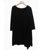 marimekko(マリメッコ)の古着「ジャージーカットソーワンピース」|ブラック