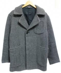 LOLO(ロロ)の古着「ローピングカルゼショートコート」|グレー
