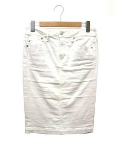 YANUK(ヤヌーク)の古着「ホワイトデニムペンシルスカート」