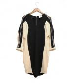 mame(マメ)の古着「袖レース切替ワンピース」|ブラック