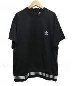 adidas×HYKE(アディダス×ハイク)の古着「ジャージーカットソー」|ブラック