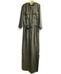 TOMORROW LAND(トゥモローランド)の古着「ドレープキュプラジャンプスーツ」|オリーブ