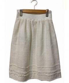 TO BE CHIC(トゥビーシック)の古着「スカート」|ホワイト