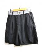 WRAPINKNOT(ラッピンノット)の古着「ストレッチウールショーツ」|チャコールグレー
