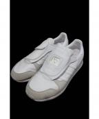 adidas×HYKE(アディダス×ハイク)の古着「マイクロペーサーレザースニーカー」|ホワイト