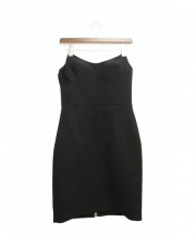 MIU MIU(ミュウミュウ)の古着「ベアトップドレス」|ブラック
