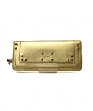 Chloe(クロエ)の古着「2つ折り長財布」|メタリックゴールド