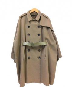 MAURIZIO PECORARO(マウリツィオ ペコラーロ)の古着「オーバーサイズベルテッドコート」 ベージュ