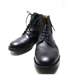 Trickers(トリッカーズ)の古着「キャップトゥブーツ」 ブラック