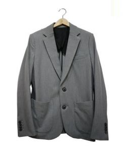 1piu1uguale3(ウノピゥウノウグァーレトレ)の古着「アウトラインヘリンボーンリブジャケット」|ライトグレー
