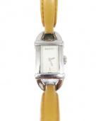 GUCCI(グッチ)の古着「腕時計」|シルバー×ブラウン