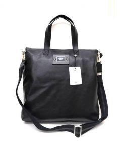 ANYA HINDMARCH(アニヤハインドマーチ)の古着「フェイスフルトートバッグ」|ブラック