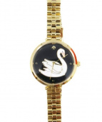 Kate Spade(ケイトスペード)の古着「腕時計」 ブラック×ゴールド