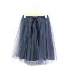 Bilitis dix-sept ans(ビリティス ディセッタン)の古着「チュール スカート」|ネイビー