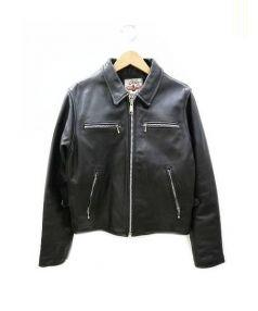 AC/DC(エーシー・ディーシー)の古着「ステアハイド ライダース ジャケット」|ブラック