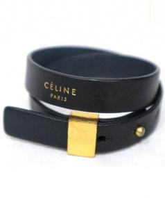 CELINE(セリーヌ)の古着「ポインテッドダブルブレスレット」 ブラック
