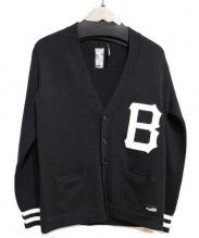 BEDWIN(ベドウィン)の古着「胸ワッペンカーディガン」|ブラック