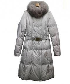 EPOCA(エポカ)の古着「フォックスファー付ダウンコート」 グレー