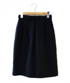Rene basic(ルネベーシック)の古着「プリーツジャガードスカート」|ネイビー