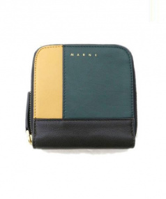 MARNI (マルニ) ラウンドファスナー財布 グリーン 参考定価¥62.000