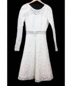 DESIGNERS REMIX(デザイナーズリミックス)の古着「レースドレス」 ホワイト