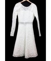 DESIGNERS REMIX(デザイナーズリミックス)の古着「レースドレス」|ホワイト