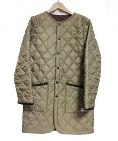 ARMEN(アーメン)の古着「キルティングノーカラーコート」|ベージュ