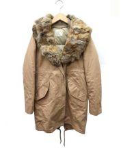 BEAUTY&YOUTH(ビューティアンドユース)の古着「ブロークンダウンミリタリーコート」|ベージュ