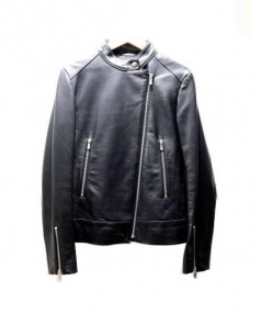 allureville(アルアバイル)の古着「シングルライダースジャケット」|ブラック