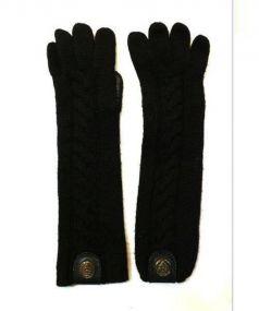 GUCCI(グッチ)の古着「カシミヤニットグローブ」|ブラック
